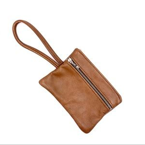 Altai Tan Leather Handmade Wristlet Made In USA